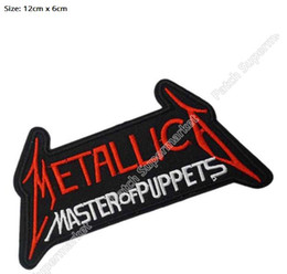 "Wholesale Cap Vest - 4.7"" METALLICA Master Of Puppets patch Music Band Metal Rock Punk retro applique iron on patch Biker Vest badge pants caps shirt"