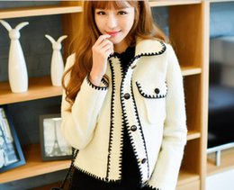 Wholesale Short Wind Coat - 2016 autumn and winter Korean version of the new women's small fragrant wind hit the color wool woolen short paragraph woolen coat