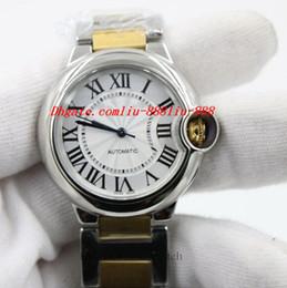 Dois movimentos assistem on-line-Relógios de luxo Relógio De Pulso Das Mulheres Automático Auto Vento Relógio De Senhora Dois Tons Movimento Mecânico Relógios 18 K Pulseira De Ouro Relógio Livre Post