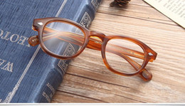 Wholesale Frame Sizes Glasses - New hot-sale brand designer Moscot glasses frame Retro-vintage quality Pure-Plank full-rim fashion sunglasses with L size M size S size