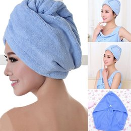 2017 cheveux amicaux Vente en gros - 1pc Drying Hair Towel Hair Magic Quick Dry Microfibre Bath Hair Towel Drying Turban Wrap Cap Bonnet de bain Spa 4 Couleurs Offerte abordable cheveux amicaux