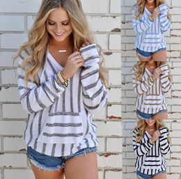 Wholesale Knit Striped Shirt - Euro-US style,Autumn Winter models,Women's clothing, Long sleeves,Leisure, stripe ,Sweater,hat,clothes, T-shirt F900