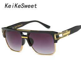 2019 lunettes de soleil superbes Vente en gros- KeiKeSweet plaqué or Super  Stars Man Lady 35b912d3eb58