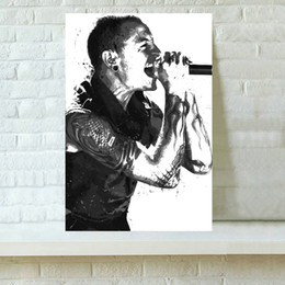 Wholesale Popular Wall Paintings - HD Printed Sports Art Oil Painting Home Decoration Wall Art on Canvas Popular Singer Chester Bennington 16x24inch