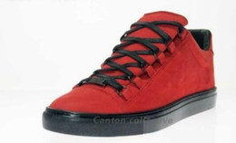 Canada En gros 2017 nouveau bonne suedeMaison rouge Martin Margiela baskets hommes de qualité en cuir High-Top Casual chaussures Free Express 36-46 cheap express red Offre