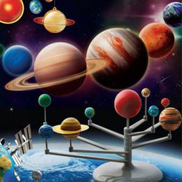 Ciência nova para crianças on-line-Kit Modelo de Planetário do Sistema Solar Astronomia Ciência Projeto DIY Caçoa o Presente New Hot!