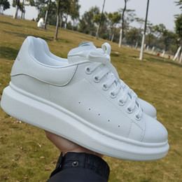 Wholesale Sneakers Shoes High Platforms - LTTL Top quality Custom made 100% Real leather platform casual shoes Comfortable High Top white flats Sneakers for man