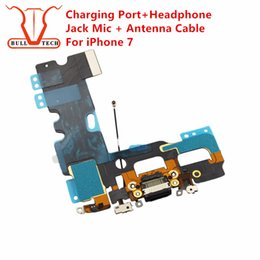 Wholesale Headphones Mic Usb - Charging Port Flex For iPhone 7 4.7 inch Charger Data USB Dock Connector with Headphone Audio Jack Mic Antenna Antena wifi Cable