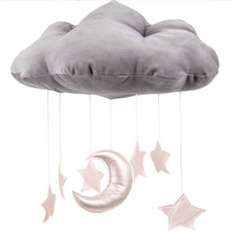 Wholesale Bedding Pictures - INS baby room decoration 3D clouds Star Baby crib accessories Take pictures of the scene Props newborn bed Ornaments