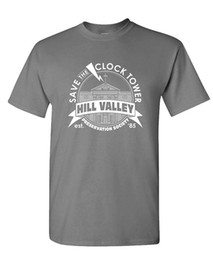 Wholesale Anti Clock - SAVE THE CLOCK TOWER - Future Movie Novelty - Mens Cotton T-Shirt Men T-Shirt Cotton 100% Top Tee Funny T Shirt Men