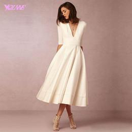 Tea Length Casual Dresses for Women