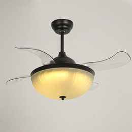 Canada Modern LED Ceiling Fans Lights 42 Inches 108 Cm 4 Invisible  Retractable ABS Blades Noiseless