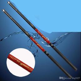 Wholesale Long Telescopic Fishing Rods - Wholesale Long Section 3.6M 4.5M 5.4M Ultra-light Hard Carbon Fishing Pole Telescopic Hand Rod Free Shipping