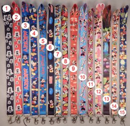 Wholesale Minnie Lanyard - Hot Sales Mickey Minnie Neck Strap Lanyard Keychain For Cell Phone Card Badge Holder Ramdom Color Free Shipping