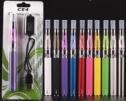 Wholesale Ego Ce4 Clearomizer Dhl - CE4 ego starter kit CE4 Electronic Cigarette Blister kits e cig 650mah 900mah 1100mah EGO-T battery blister case Clearomizer E-cigarette DHL