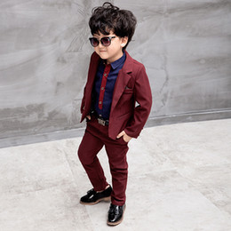 Wholesale Small Children Picture - The fashionable children suit man three-piece suit, the new spring and autumn wear small suit boy casual suit outfit, fashionable flower boy