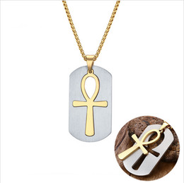 Wholesale Removable Plates - Ankh Removable Cross Necklace&Pendants Egyptian Men Jewelry The Symbol of Life Cross Jewelry PN-623