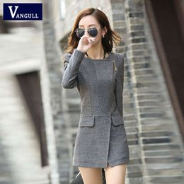 Wholesale Womens Clothes Jackets - Wholesale- Womens Jacket And Coat Winter Women's Cashmere Wool Coat 2016 Fashion New Casual Slim Long Clothing Zipper Jacket Tops