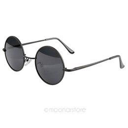 Wholesale Circle Protection - Wholesale- Hot Vintage Black Round Circle Sunglasses, Unisex Men Sunglasses Women UV Protection Metal Eyewear Sun Glasses
