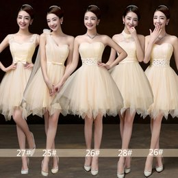 Wholesale Short Mini Taffeta Dresses - Free Shipping 2017 sweetheart 4 styles 6 color vestidos de noiva off shoulder IN STOCK Backless formal evening pageant