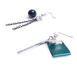 Wholesale Black Pearl Chandelier Earrings - Asymmetric Earrings Dangle Earrings Trendy Black Imitation Pearl Charm Earrings Geometric Pendant Ribbon Eardrop For Women