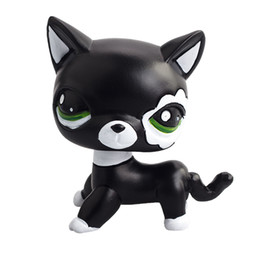 Wholesale Lps Decoration - Wholesale- Hot Selling Cat Shaking Head Toy Model Car Decoration Resin Lovely Nodding Cute Black Cat LPS