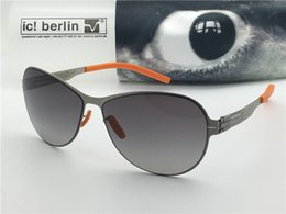 Wholesale Steel Leg - Germany designer brand sunglasses IC Semla ultra-light without screw memory alloy removable stainless steel metal frame color legs with box