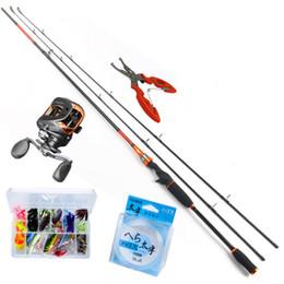 Wholesale Combo Reel - Wholesale- ANZHENJI 2.1M Casting Rod Fishing Rod Light BaitCasting Fishing Reel + 2.1M BaitCasting Lure Fishing Rod Combo Peche