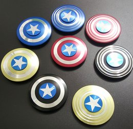 Wholesale Autism Puzzle - Creative Captain America Fidget Spinner Hand Spinner Iron Man Fidget Alloy Puzzle Toys EDC Autism ADHD Finger Gyro Toy Adult USA