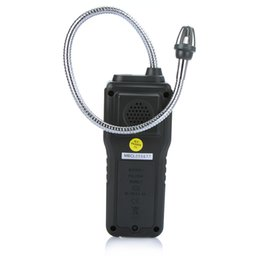 Wholesale Gas Leak Alarm Detector - Wholesale- Portable Multifunctional Flammable Gas Detector Combustible Gas Leak Tester 10%-40% Sound Light Alarm Adjustable Sensitivity