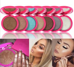 Wholesale Glow Dark Sun - New highlighter glow kit makeup bronzer iluminador maquiagem cosmetics powder for face skin frost five star free shipping