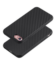 Wholesale Gel Carbon - For iphone 7 Fiber Carbon TPU Phone Case Gel Soft Silicone Slim Cover for iphone6 6 Plus 6S 5 SE
