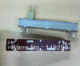original-leistungsrelais Rabatt Wholesale- [bella] Taiwan ALPHA Alpha 7,5 cm Schiebepotentiometer A50K * 2 große geteilte Schaftlänge 20MM - 10pcs / lot