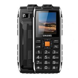 "Wholesale Camera Power Box - Original Uhans V5 1.7"" Daily WaterProof Long standby Big box Speaker 2500mah Led light Power Elder mobile Phone Cellphone"