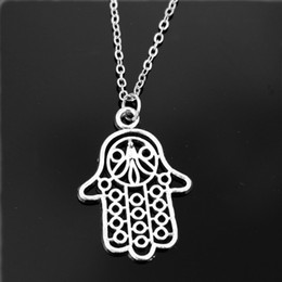 Wholesale One Direction Girls Accessories - Wholesale-One Direction Exo Collares New Girl Bijoux Men Pendants Love Vintage Hand Necklace For Women Jewelry Statement 2016 Accessories