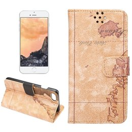 Wholesale Map Wallet Flip Case - For iPhone 7 Map Pattern Horizontal Flip Leather Case with Holder&Card Slots&Wallet with discount price and retail package