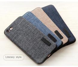 Wholesale Denim Phone Cases - sample order phone case fiber design denim phone cover for iphone 8 7 plus Huawei P9 P10 mate9 retail free shipping