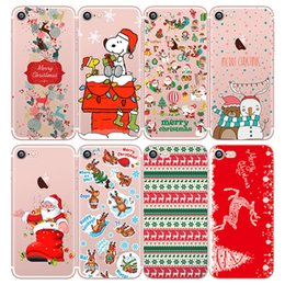 Wholesale White Christmas Deers - Christmas Phone Case For iPhone 7 Cover Soft Silicon Santa Claus Christmas Animals Deer Back Cover For iPhone 5 5S SE 6 6S