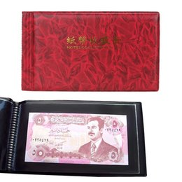 Wholesale Currency Paper - 20 Pages Paper Money pages 1 Pockets 190*100mm Bill Note Currency Holder Album Pages Collection Free Shipping Wholesale
