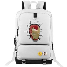 Wholesale Unique Design Tables - Iron Man backpack Unique design school bag Super hero daypack Cool schoolbag Outdoor rucksack Sport day pack