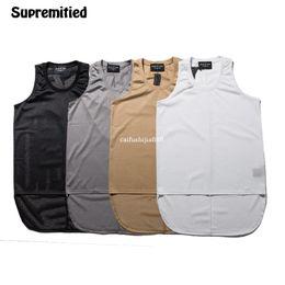 Wholesale Man Vest Shirt Tank - 2017 New Fear of God Mesh Vest Men Women High Quality JUSTIN BIEBER Hip Hop FOG Tank Tops Brand Clothing Fear of God Shirt