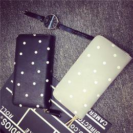Wholesale Passport Folders - Wholesale- Luxury famous brand women wallet designer long wallets Zipper Clutch money bag Pocket Wallets and Purses folder black handbags