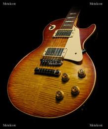 Custom Shop Billy bons Pearly Gates Flame Maple Top Vintage Sunburst guitare électrique, touche en ébène, manche en une pièce sans écharpe à vendre ? partir de fabricateur