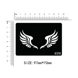Wholesale cartoon stencil - Wholesale- Disposable tattoo stencil, detachable, artistic creation, fashionable, skin available, tattoos,Cartoon, feathers, wings,878