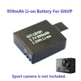 Wholesale Battery Backup Camera - Wholesale- 100% Original 950mAh Backup Rechargable Li-on Battery For GitUp Git2 WiFi Sport Camera DV Free Shipping!