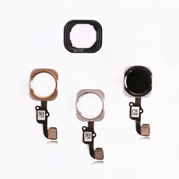 Wholesale Id Ribbon - Top Quality For iPhone 6 4.7 6 plus 5.5 inch Complete Home Button Flex Ribbon Cable Touch ID Sensor Replacement Part