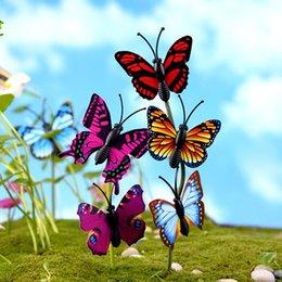20pcs Farfalla Terrario Figurine Albero Decorazione Fairy Garden Miniature Artigianato in resina Bonsai Gnomes Micro Landscape Moss Ornament da farfalle decorazioni da giardino fornitori