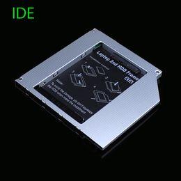 Ide hdd caddy online-Großhandels- [Freies DHL] volles Aluminium 9.5mm IDE zu SATA zweites HDD Caddy 2.5 '' SATA zweites HDD Caddy für Laptop-Qualität - 30pcs