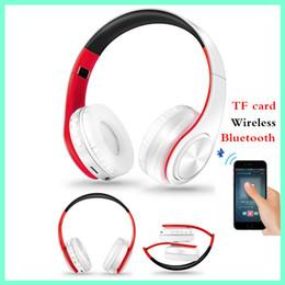 tarjeta de auriculares bluetooth mp3 Rebajas Wireless Bluetooth Sport Headset TF Tarjeta MP3 Heavy Bass Auriculares estéreo Smartphone Universal plegable Bluetooth Headset Auricular Auricular