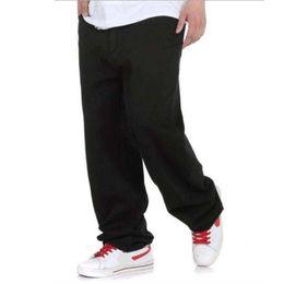 Wholesale Harem Legging Jeans - Wholesale- Big Size Mens Jeans Black Denim Pants Wide Leg Loose Hip Hop Harem Pants Skateboard Trousers